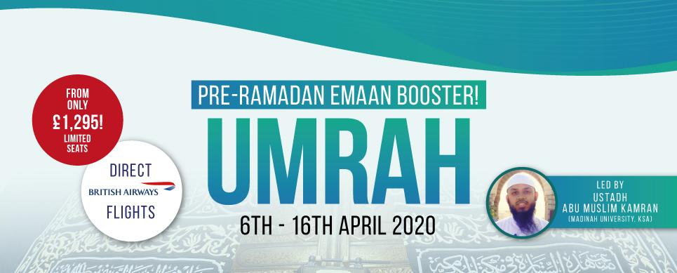 Ihsaan Tours April Pre-Ramadan Umrah 2020